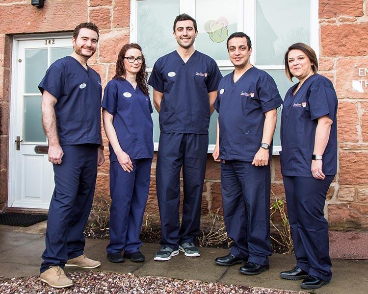 team at sandstone dental