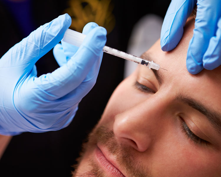 man having botox
